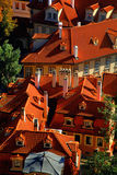 Old tiled roofs, Prague, Czech republic Royalty Free Stock Photography
