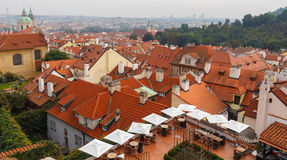 Old tiled roofs of Prague, Czech Republic. Royalty Free Stock Photos