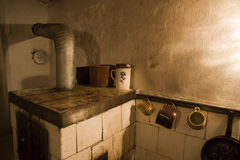 Old tiled stove Royalty Free Stock Photo