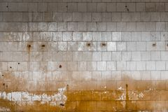 Old tiled wall of an industrial building Royalty Free Stock Photo