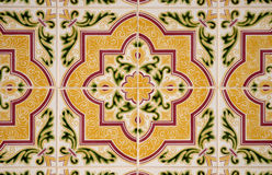 Old tiles background. Old traditional portuguese dacade tiles background Royalty Free Stock Photos