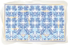 Old tiles color background Royalty Free Stock Image