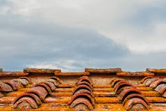 Old tiles roof background royalty free stock images