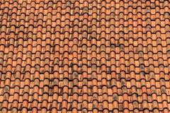 Old Tiles Roof Background. In sun light Stock Photos