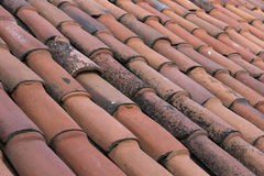 Old Tiles Roof Background Royalty Free Stock Photos
