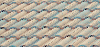Old tiles roof for backgrounds Stock Photography