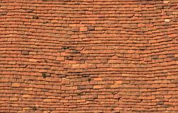 Old tiles on a roof. Texture. Small and irregular old tiles on a roof.Texture Royalty Free Stock Photography
