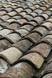 Old tiles on a roof top Royalty Free Stock Images