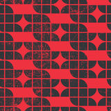 Old tiles seamless background, vector retro style pattern. Royalty Free Stock Images