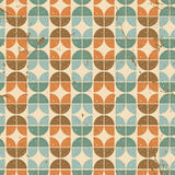 Old tiles seamless background, vector retro style pattern. Stock Photo