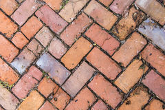 Old tiles at the sidewalk Royalty Free Stock Photos