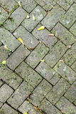 Old tiles at the sidewalk Stock Image