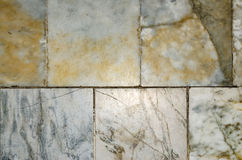 Old tiles white yellow. Old tiles white yellow floor Royalty Free Stock Photography