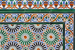 Old tiles. Wonderful old tiles at a wall in Ronda, Andalusia, Spain Stock Photo