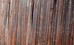 Old tilted barn wall Stock Image