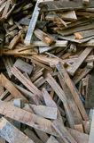 Old timber. Pile of old used timber planks Stock Image