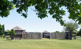 Old Timber Fort. Museum of the Great Plains in Lawton, Oklahoma Stock Images