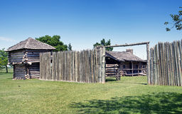Old Timber Fort. Museum of the Great Plains in Lawton, Oklahoma Royalty Free Stock Image