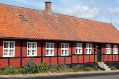 Old timber frame house. On the island Bornholm in Denmark royalty free stock photos