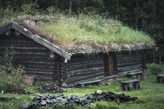 Old timber lodge in Norberg Sweden Royalty Free Stock Images