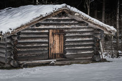 Old timber lodge in Norberg Sweden Stock Images