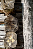 Old Timber Log Building Details Royalty Free Stock Photos