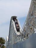Old Timber Roller Coaster. The Roller Coaster at Luna Park, St Kilda, Melbourne Royalty Free Stock Photo