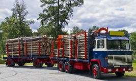 Old Timber Truck Stock Image
