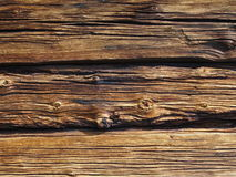 Old timber wall. Old rough wall made of timher Stock Photography
