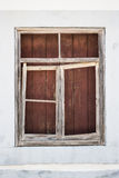 Old timber window frame boarded up Royalty Free Stock Photography