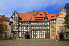 Old timbered houses in Braunschweig Royalty Free Stock Image