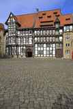 Old timbered houses in Braunschweig Royalty Free Stock Photos