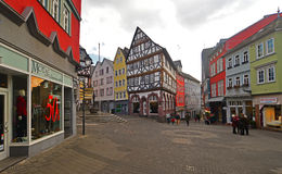 Old timbered houses Royalty Free Stock Image