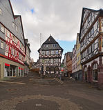 Old timbered houses Stock Images