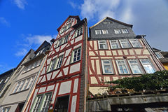 Old timbered houses Royalty Free Stock Photo