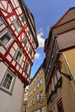 Old timbered houses Stock Image