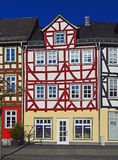 Old timbered houses Stock Photo
