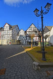 Old timbered houses Royalty Free Stock Photos
