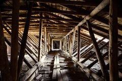 Old timbered loft Stock Image