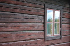 Old timbered wall with window Royalty Free Stock Photography