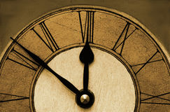 Old Time. Clock face, retro Stock Photography