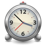 Old time analog alarm clock Royalty Free Stock Photos
