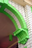 Old-Time Arch. Detail of an arch of a building royalty free stock photos