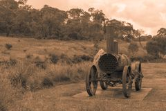 Old time Australian machinery in mon chrome royalty free stock photo