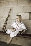 Old Time Baseball Royalty Free Stock Image