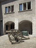 Old time cannon in Thun Castle Stock Images