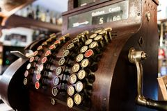 Old-Time Cash Register Stock Photos