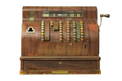 Old-time cash register in a shop. Stock Photography