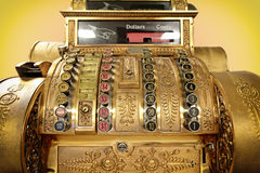 Old-time cash register Stock Image