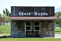 Old time chuck wagon building Stock Photography